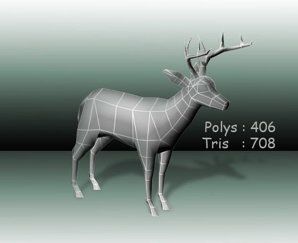 Deer low poly - 3DOcean Item for Sale