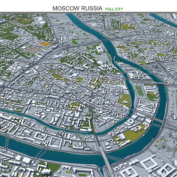 Moscow City Russia 3D Model 50km - 3DOcean Item for Sale