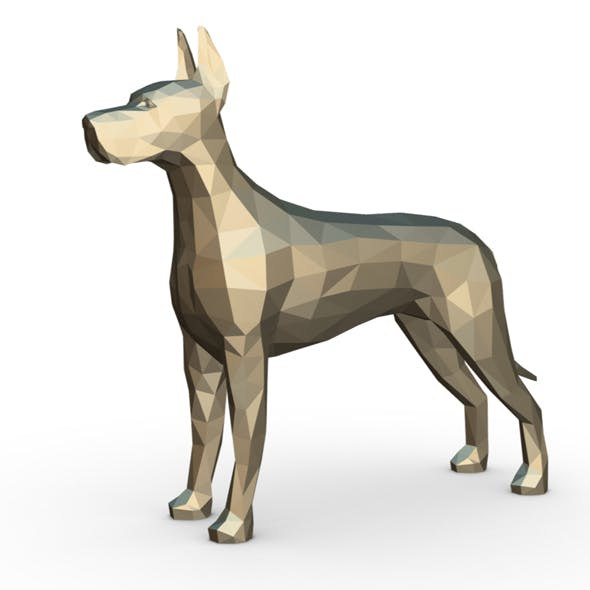 great dane figure - 3DOcean Item for Sale