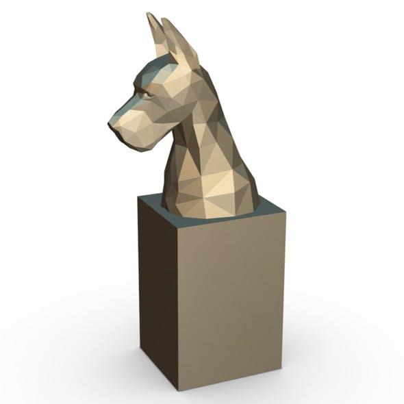 great dane head bust - 3DOcean Item for Sale