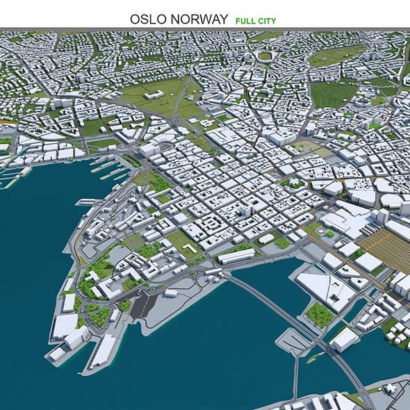 Oslo Norway City 3D Model 30km