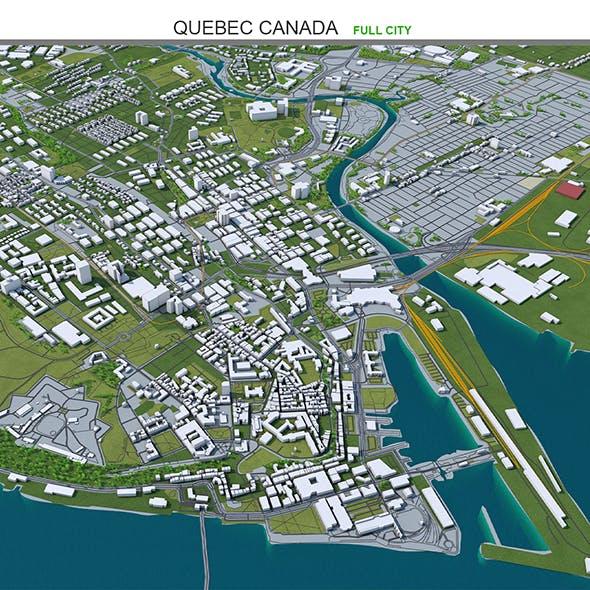 Quebec City Canada 3D Model 80km
