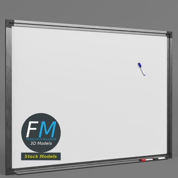 Magnetic whiteboard with markers