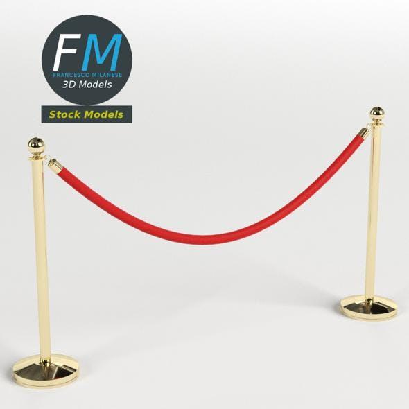 Red velvet rope - 3DOcean Item for Sale