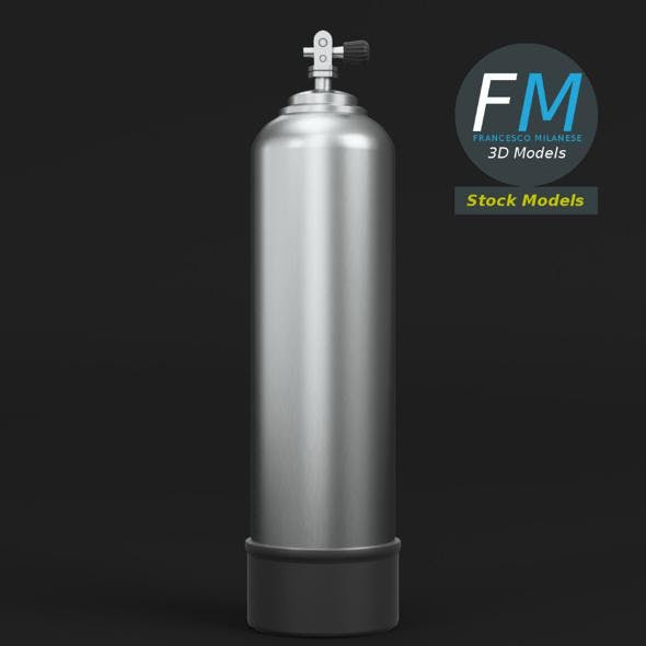 Scuba diving tank gas cylinder - 3DOcean Item for Sale