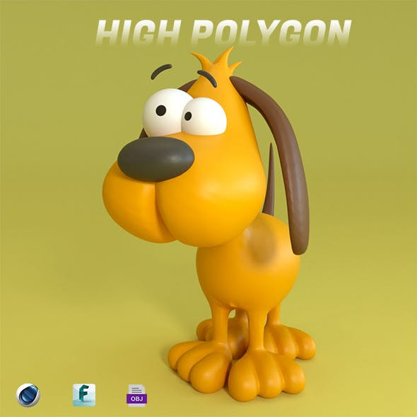 Cartoon Dog - 3DOcean Item for Sale