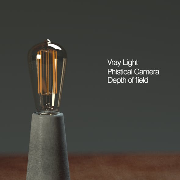 Cinema 4d and vray 3.7 setups Concrete lighthouse lamp