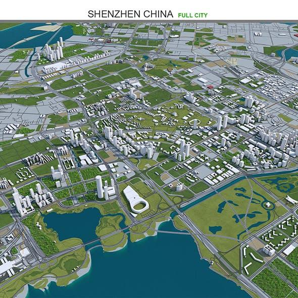 Shenzhen City China 3D model 120km