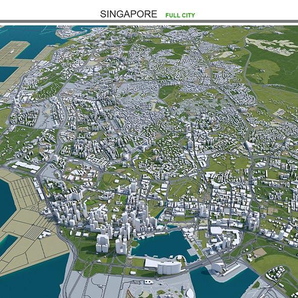 Singapore City 3D model 50km