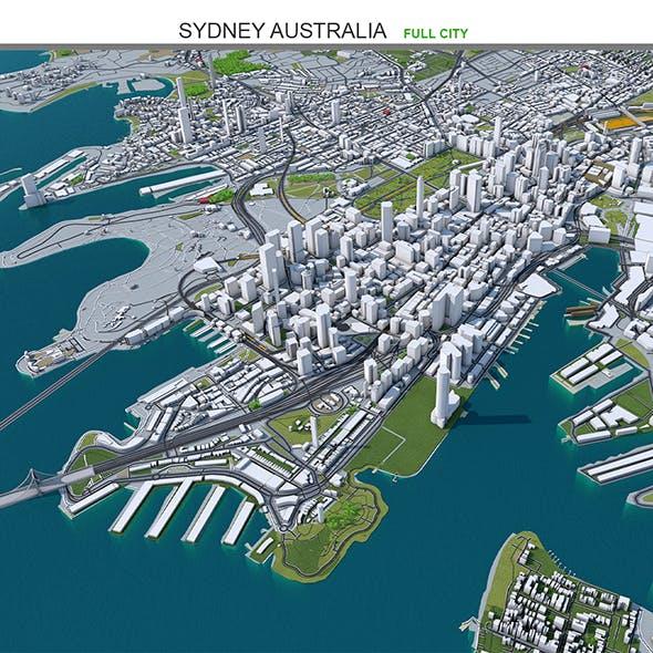 Sydney City Australia 3D Model 50km