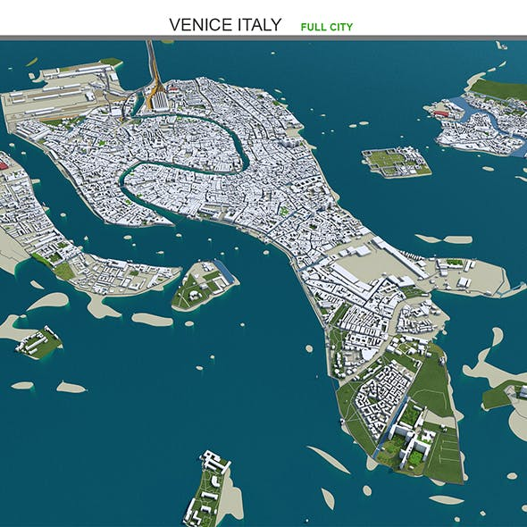 Venice City Italy 3D Model 60km - 3DOcean Item for Sale