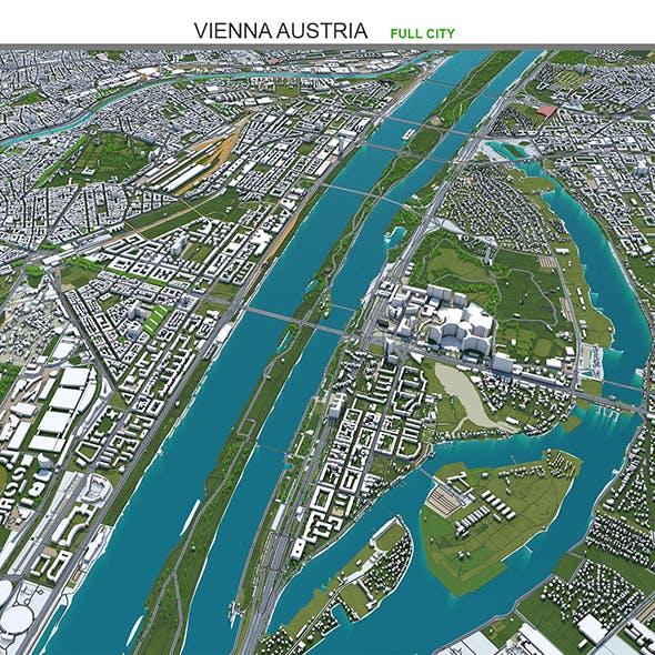 Vienna City Austria 3D Model 50km