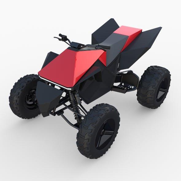 Tesla Cyberquad ATV Red - 3DOcean Item for Sale