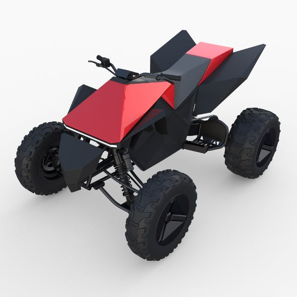 Tesla Cyberquad ATV Red