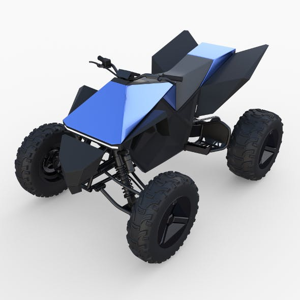 Tesla Cyberquad ATV Blue