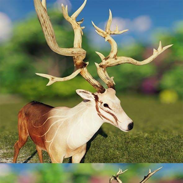 Deer Low Poly Mesh