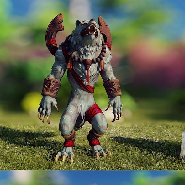 fenrir wolf Low Poly