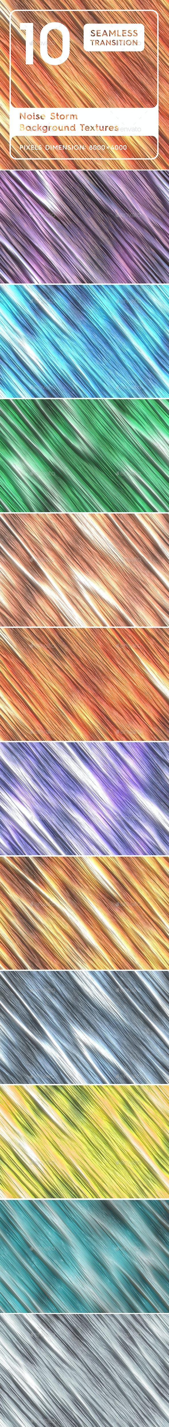 10 Noise Storm Background Textures. Seamless Transition. - 3DOcean Item for Sale