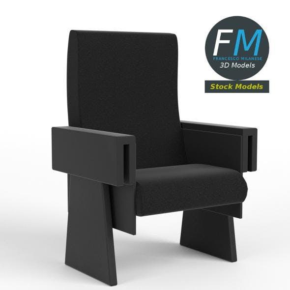 Cinema theater armchair 1 - 3DOcean Item for Sale