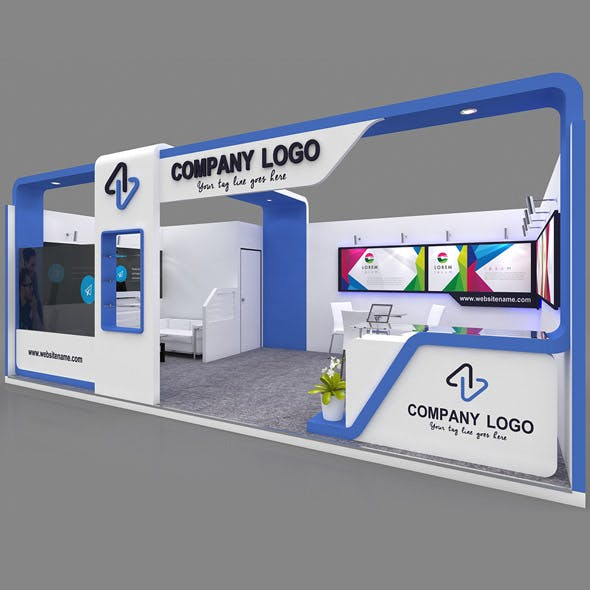 Exhibition Booth 3D Model - 7x4 mtr
