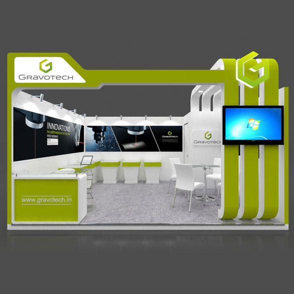 Exhibition Booth 3D Model - 5x4 mtr