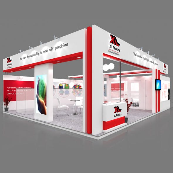 Exhibition Booth 3D Model - 10x8 mtr