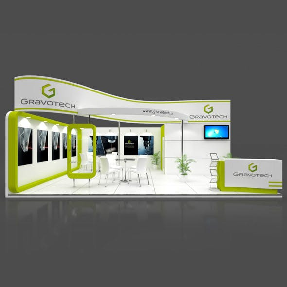 Exhibition Booth 3D Model - 8x6 mtr