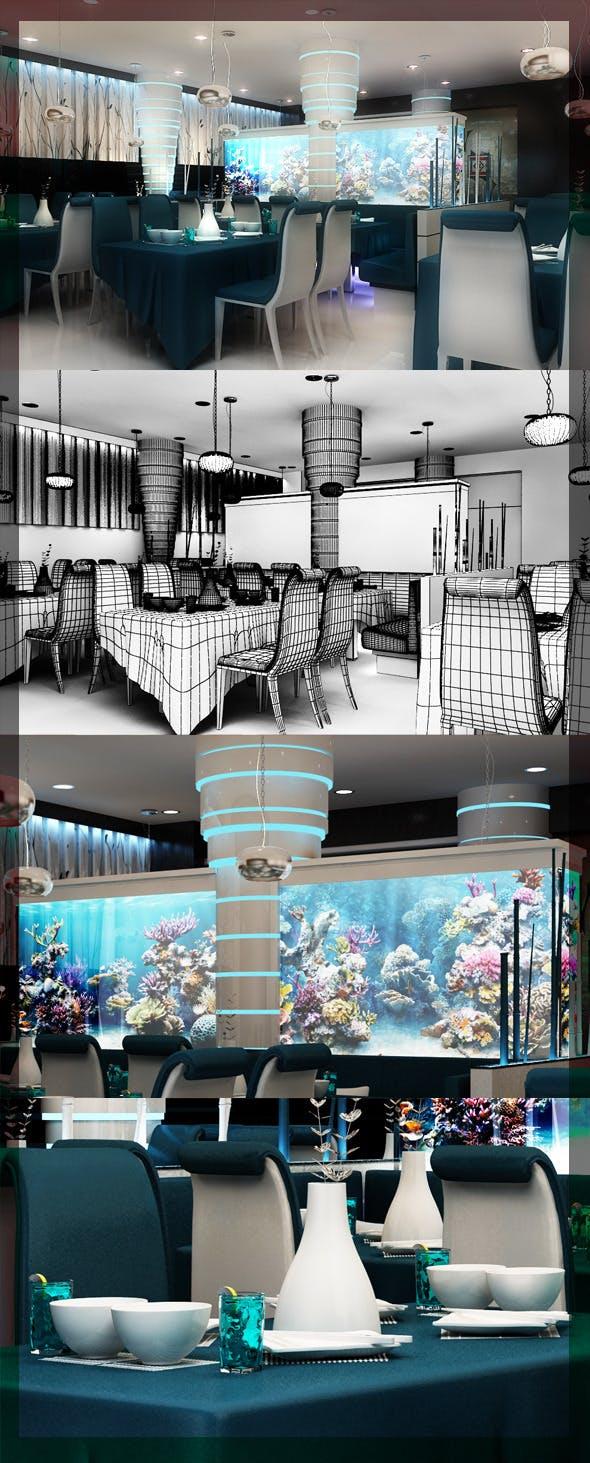 Restaurant_3d_interior_design_8080_105 - 3DOcean Item for Sale