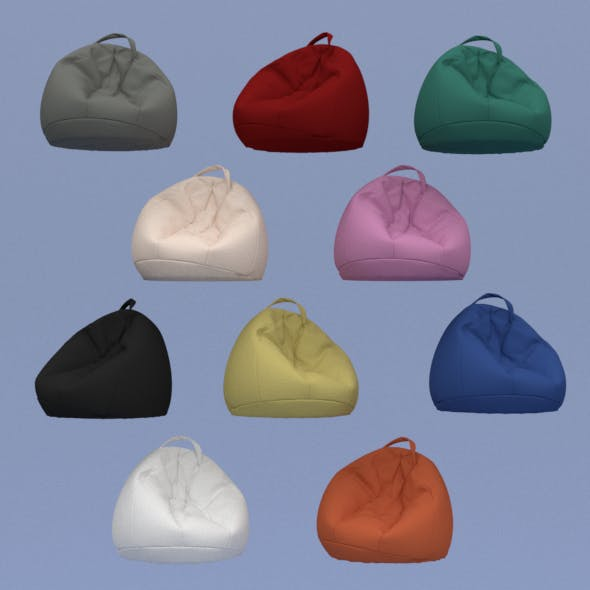 lot of ten colored beanbags