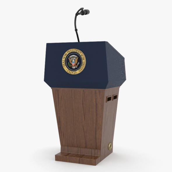 USA Presidential Podium - 3DOcean Item for Sale