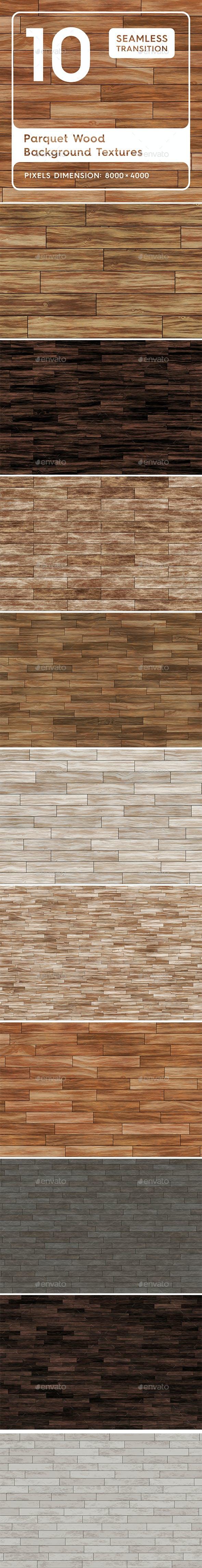 10 Parquet Wood Background Textures - 3DOcean Item for Sale