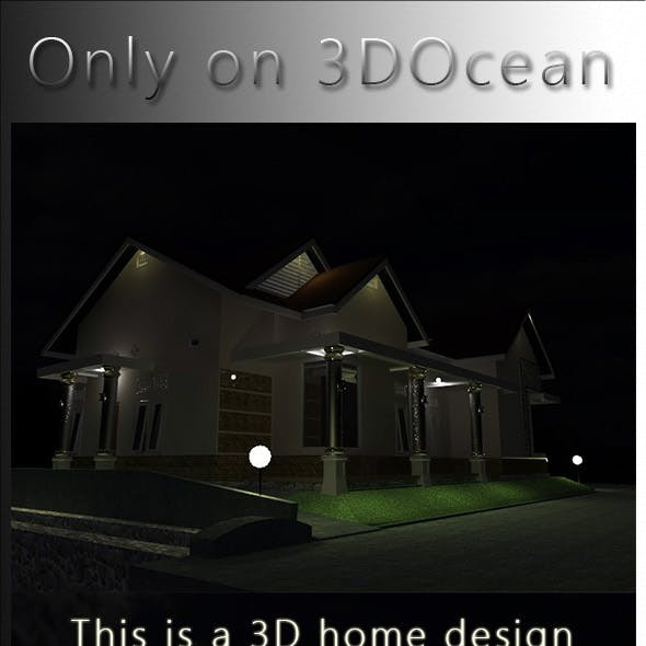 This is 3D home design, four side of the face