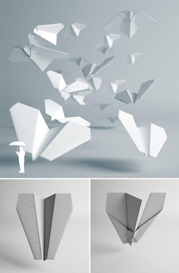 Paper plane - 3DOcean Item for Sale