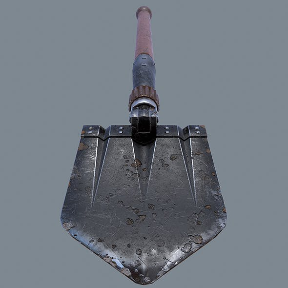 German sapper shovel WW2 3d model - 3DOcean Item for Sale