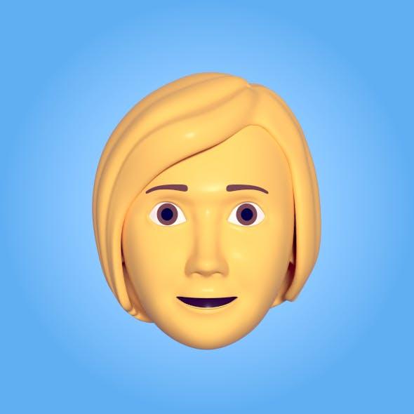 Cartoon Woman Head Emoji