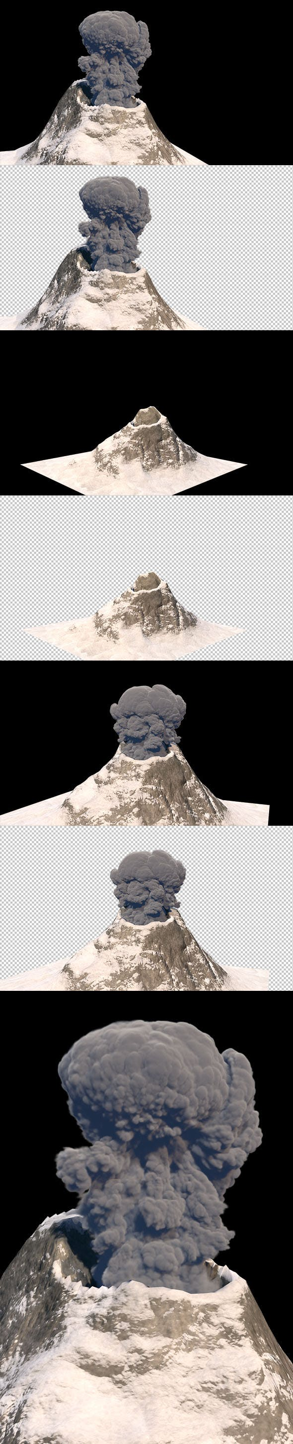 Volcano mountain active - 3DOcean Item for Sale