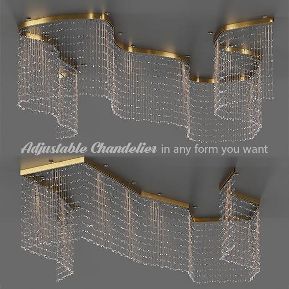 Adjustable Crystal String Chandelier