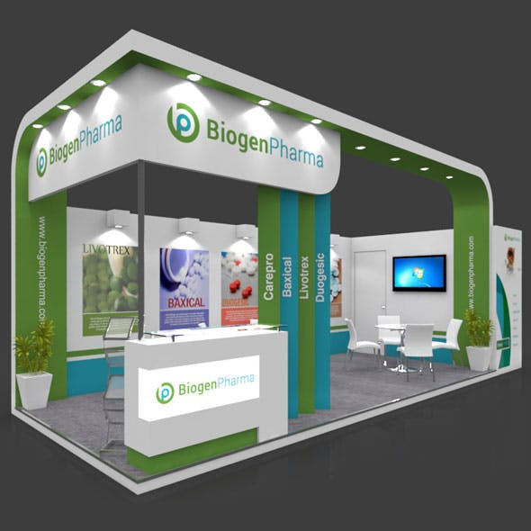 Exhibition Booth 3D Model - 8x3 mtr