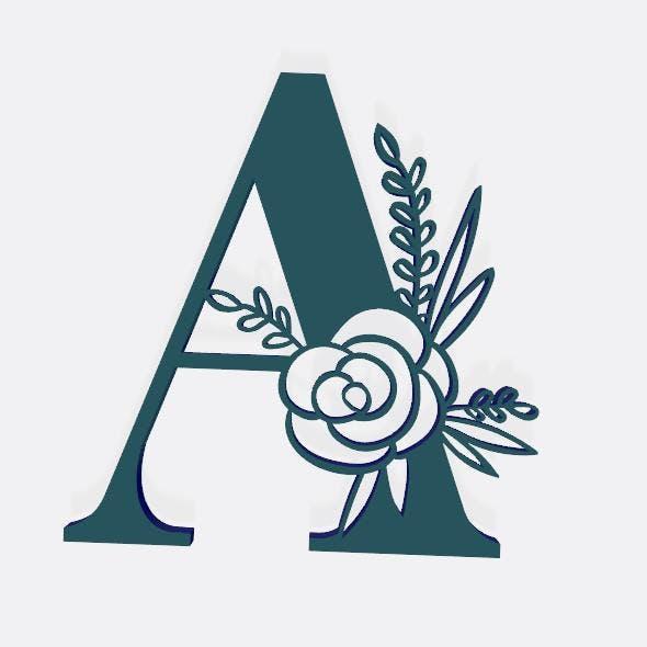 alphabet design - 3DOcean Item for Sale