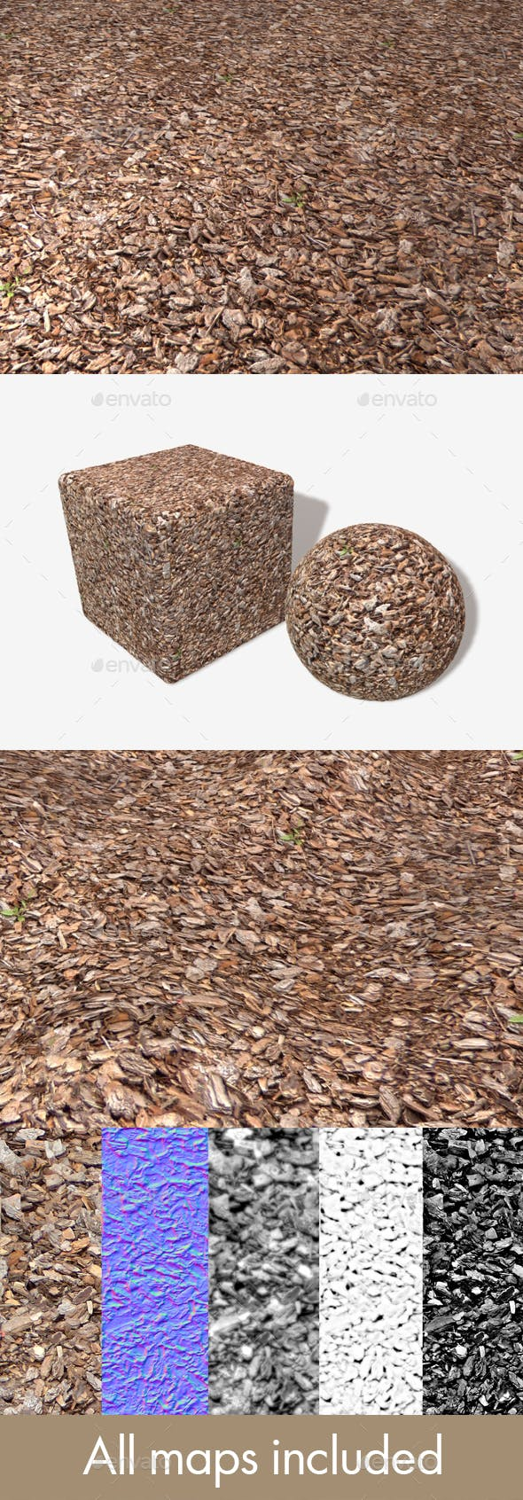 Ground Bark Seamless Texture - 3DOcean Item for Sale