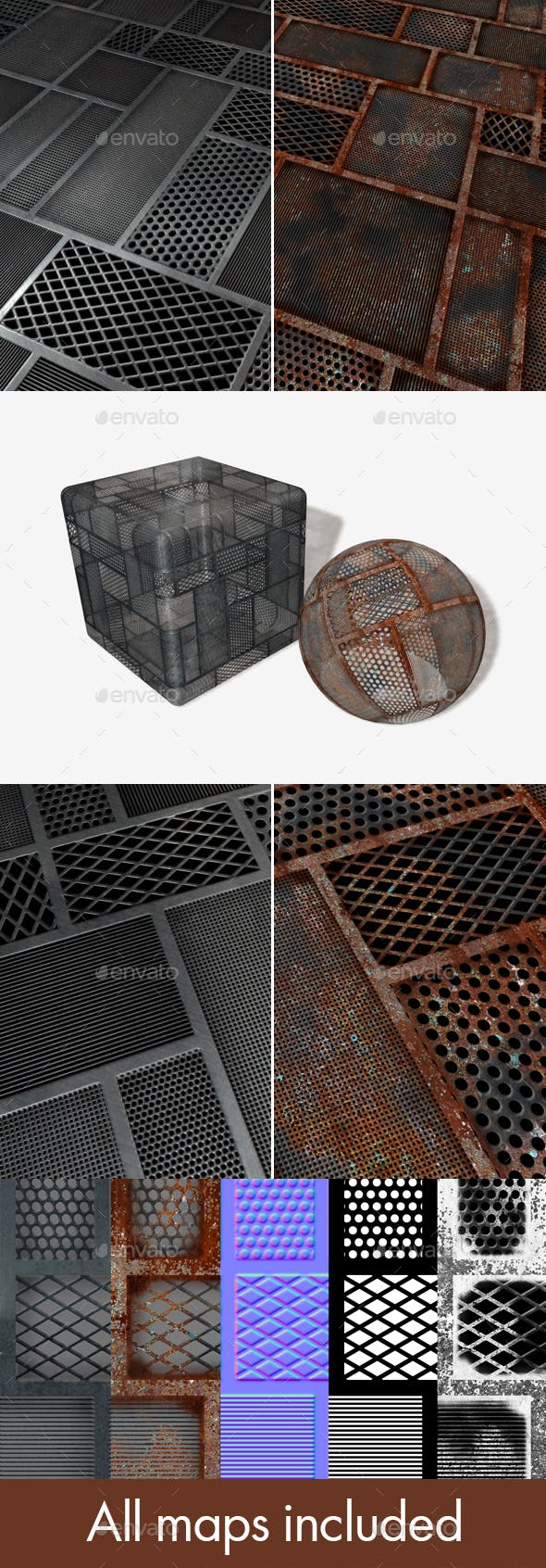 2 SciFi Mesh Seamless Textures - 3DOcean Item for Sale