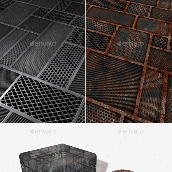 2 SciFi Mesh Seamless Textures