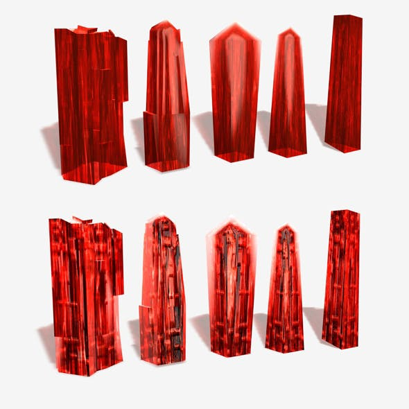 2 Red Crystal Materials