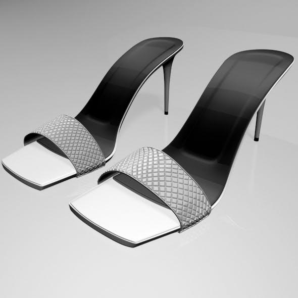 Patterned-Strap Stiletto Sandals 01 - 3DOcean Item for Sale