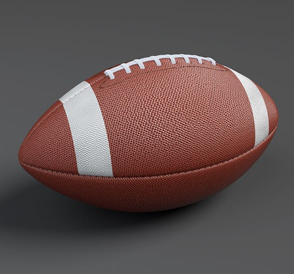 American Football Ball Low-poly 3D Model - 3DOcean Item for Sale
