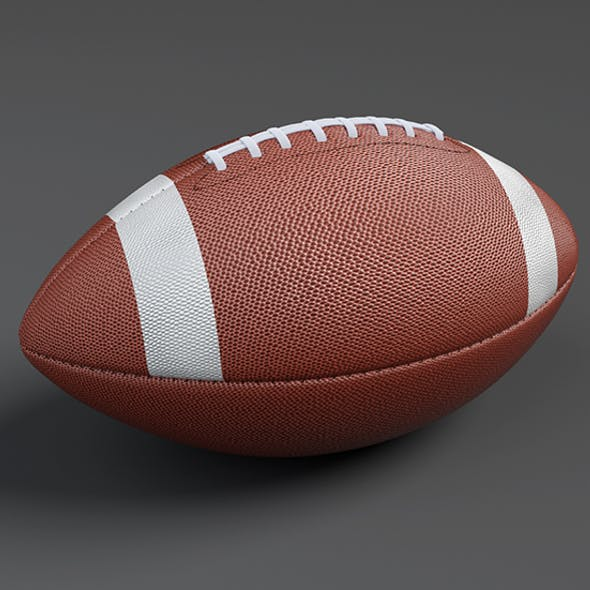 American Football Ball Low-poly 3D Model