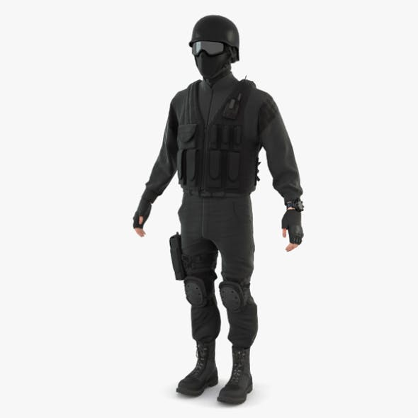 SWAT Policeman - 3DOcean Item for Sale