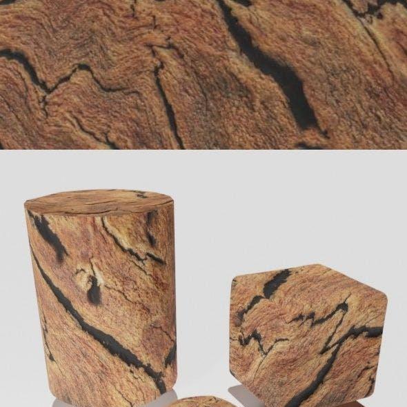 External wood bark for trees