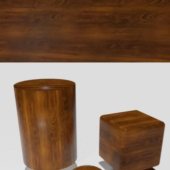 Smooth brown wood veneer