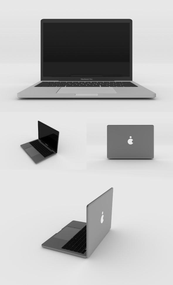 Macbook Pro 3D model - 3DOcean Item for Sale